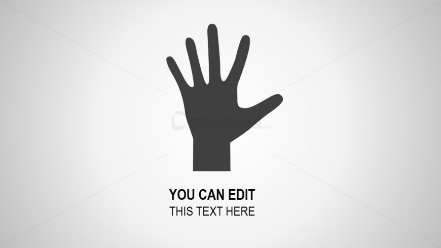 Hand Palm Concept for PowerPoint