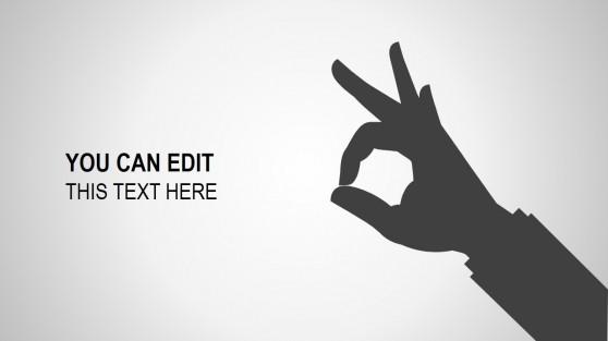 Fingers powerpoint templates 8338 01 dark palm hand concept 4 toneelgroepblik Images