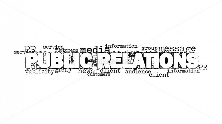 Public Relations Tag Cloud Design