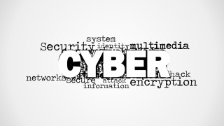 Cyber Word Cloud Picture for PowerPoint