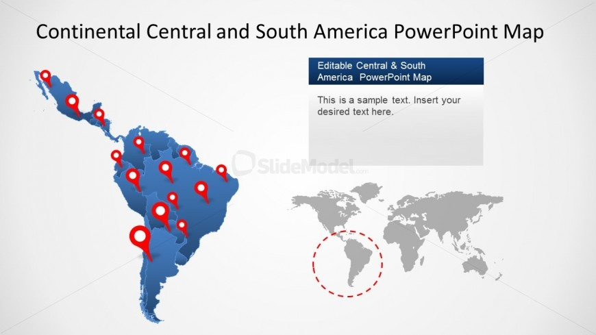 Maps of Central and South America for PowerPoint