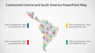 PowerPoint Map of Latin America