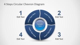 PowerPoint Diagram Four Steps Chevron