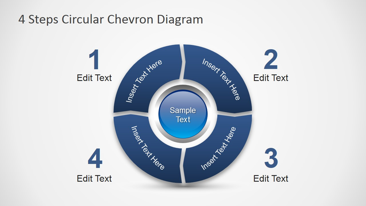 4 Steps Circular Chevron Powerpoint Diagram