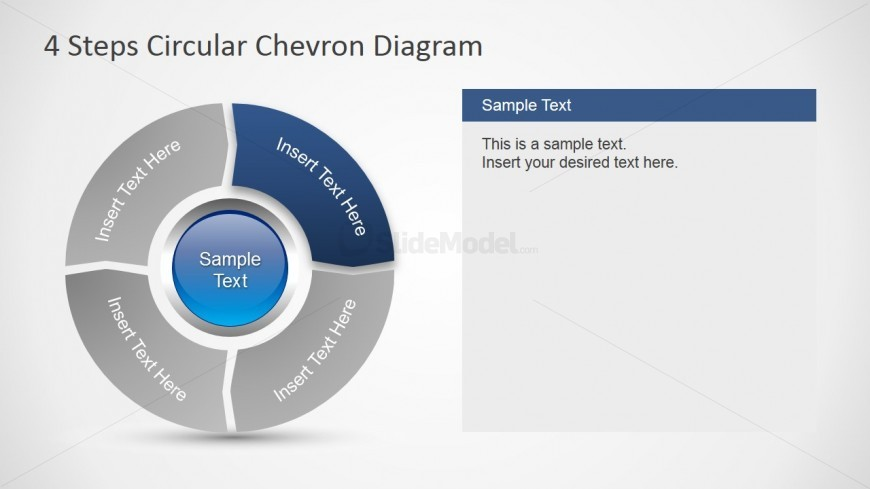 PowerPoint Template Circular Chevron
