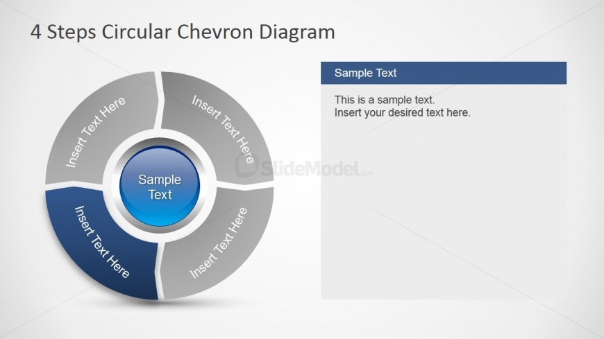 PowerPoint Chevron Diagram Design 4 Steps