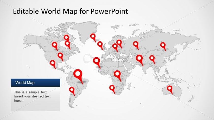 Editable PPT World Map   SlideModel