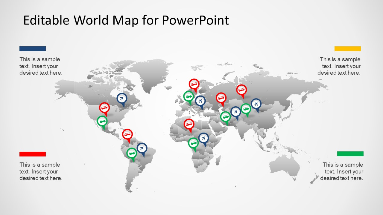 Editable worldmap for powerpoint slidemodel ppt worldmap slide design editable ppt map political outline gumiabroncs Images