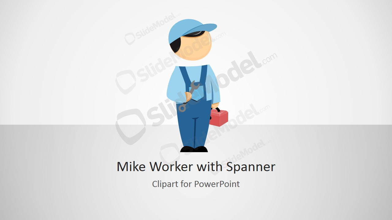 Mike Worker PPT Template with Spanner