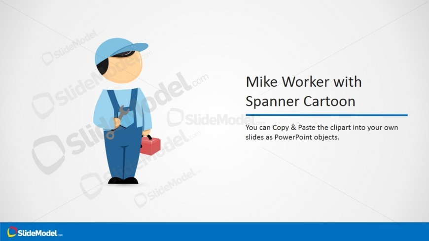 PPT Template Clipart Cartoon Mike with Spanner