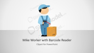 PPT Template Cartoon Barcode Reader