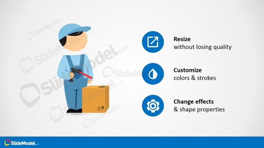 PowerPoint Template Mike Clipart for Warehouse Theme