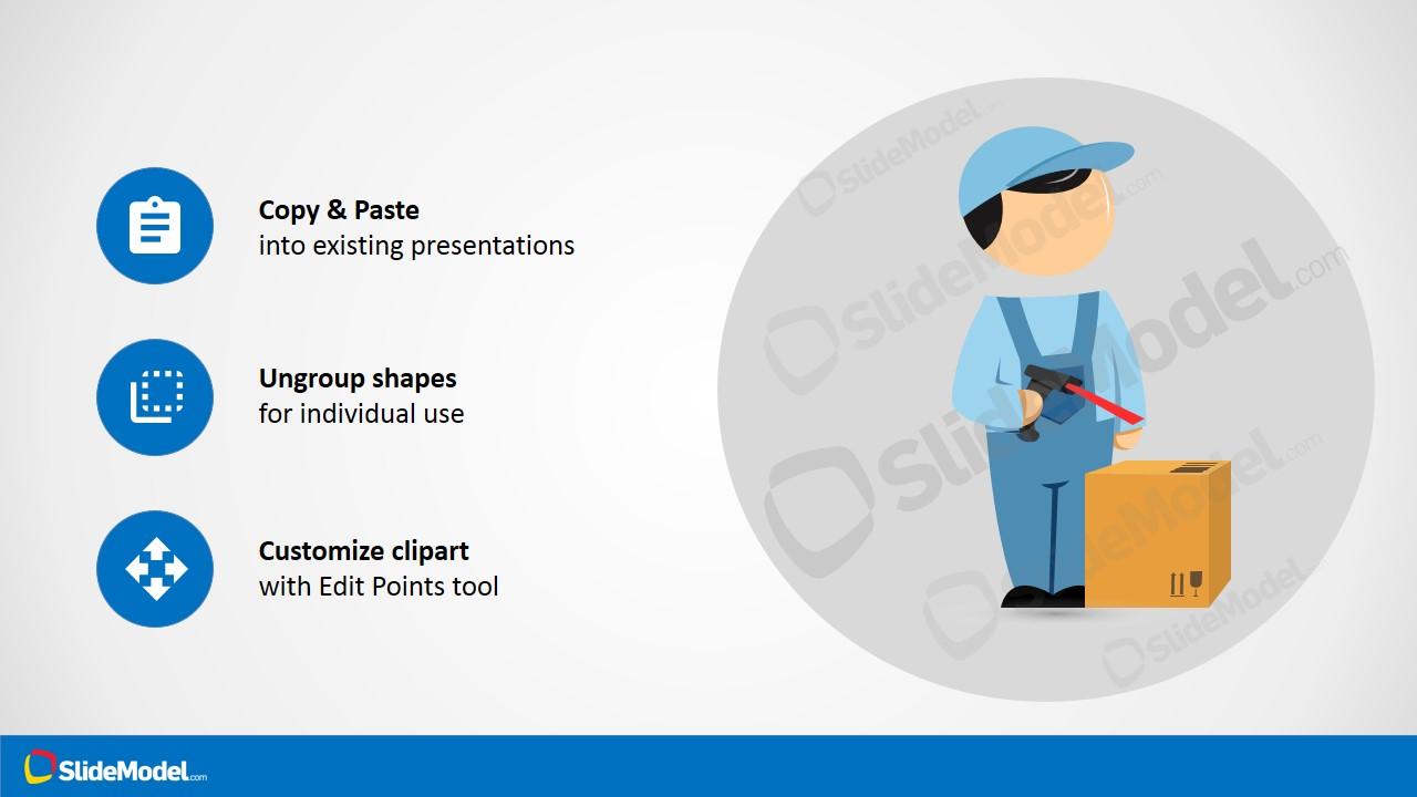 PowerPoint Theme Logistics Employee