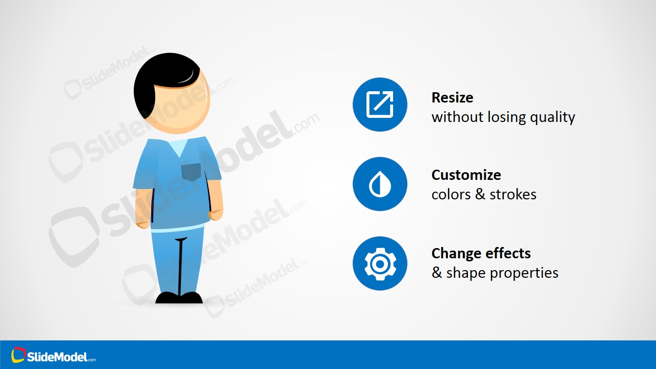 Ppt male nurse shapes slidemodel alramifo Gallery
