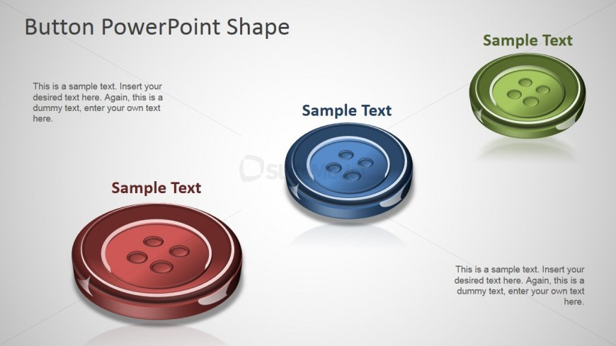 PPT Button Shapes Colored