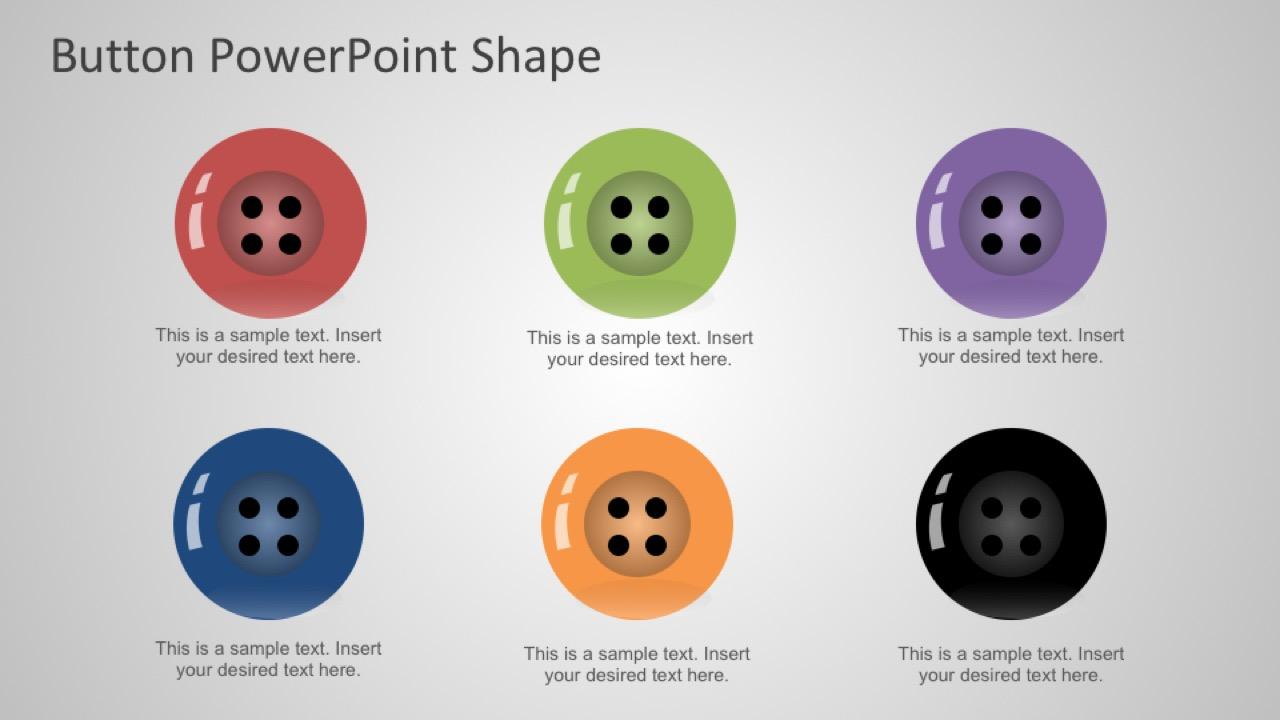 PPT Flat Design Buttons