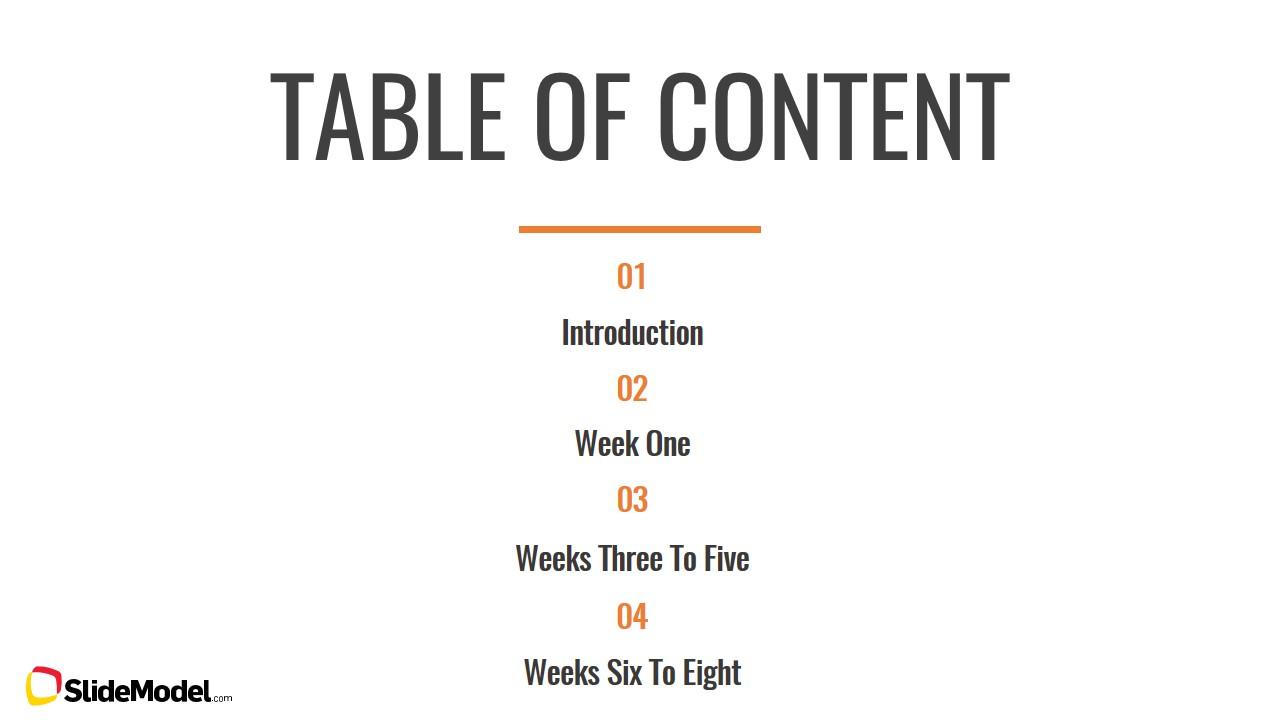 Table of Content Slide Design - SlideModel
