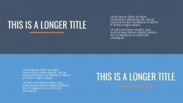 Two Horizontal Titles Comparison Slide