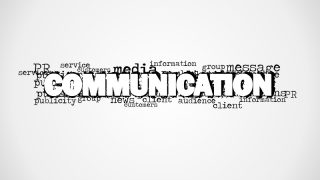 Communication Word Cloud Picture for PowerPoint