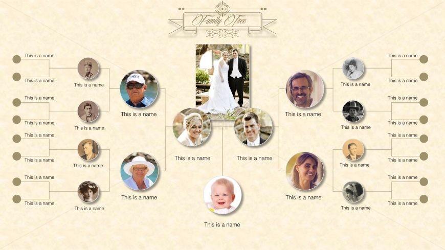 Family Tree Diagram For Powerpoint Slidemodel