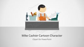 Mike Cashier Character for PowerPoint