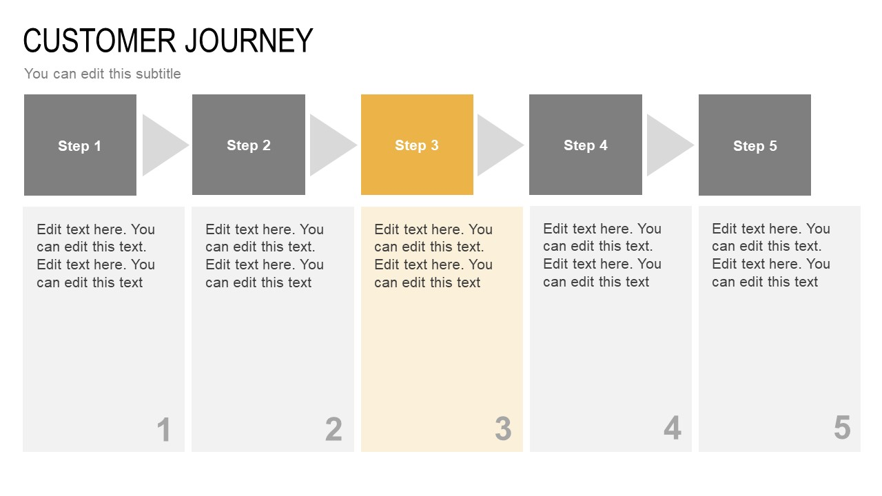 5 Step Simple Diagram with Placeholders
