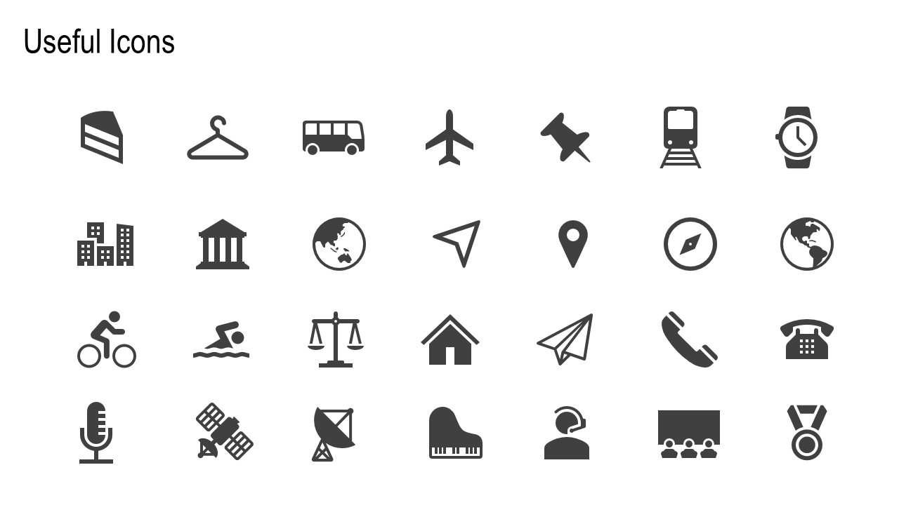 useful ppt infographic icons