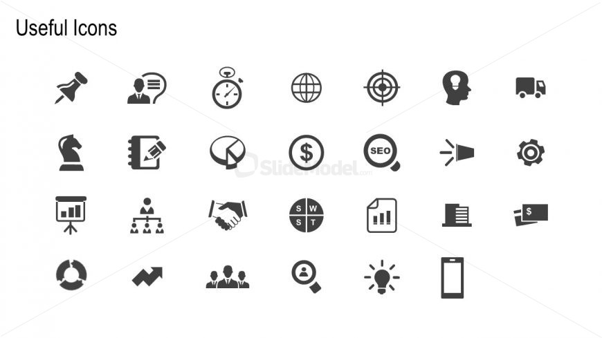 High Quality Icons for Marketing Analysis
