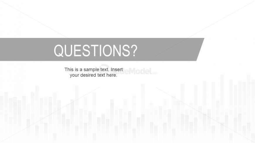 Question Answer Slide Template Skyline