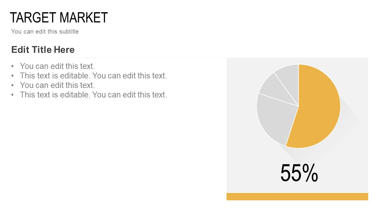 Target Market Steps Pie Chart Presentation