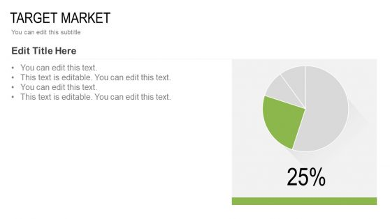 Target Market Template with Pie Chart