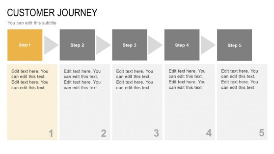5 Step Diagram Customer Journey Slide