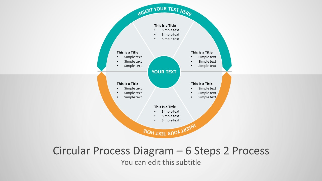 2 Process Business Presentation Layout Cycle Flow Diagram Template