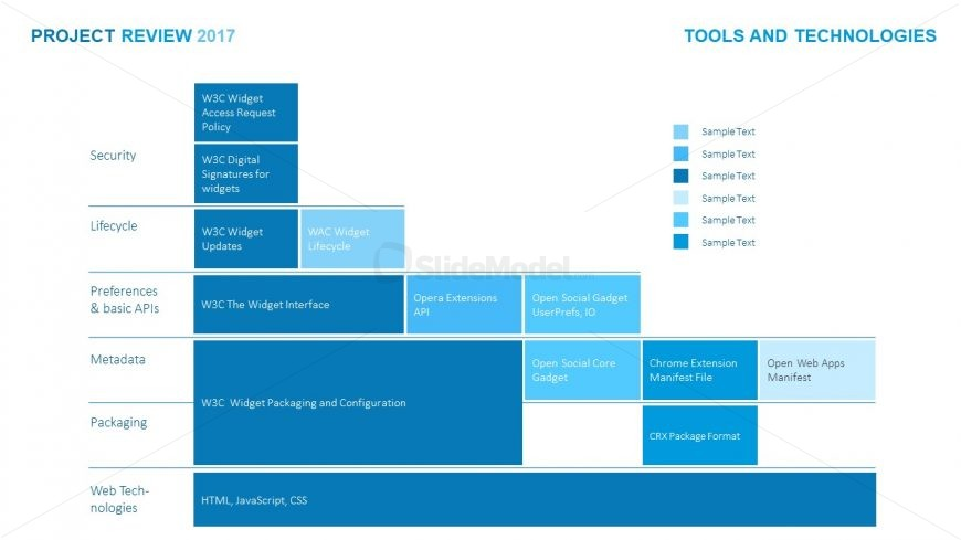 Blue Theme Presentation Software Application