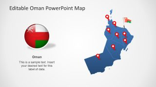Editable Oman Map for PowerPoint