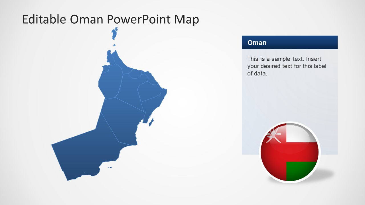 PPT Map Slide of Oman