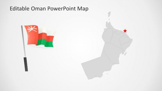 Oman Flagpole Slide of PowerPoint