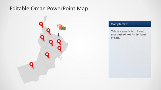 Location Pins Map in PowerPoint