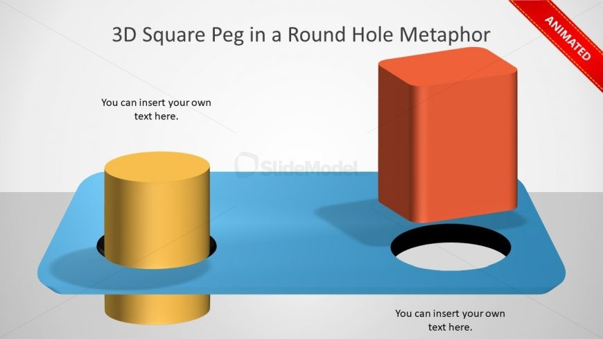 Animated PPT Slide of Metaphor Concept
