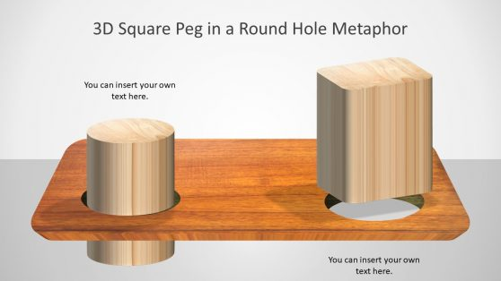 Wooden Style Metaphor PowerPoint