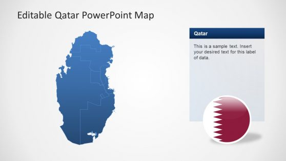 PPT Map of Qatar Country
