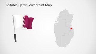 Flag on Pole Map PowerPoint