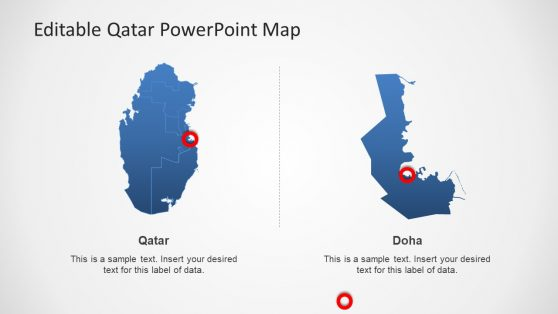 Highlighting Map of Qatar