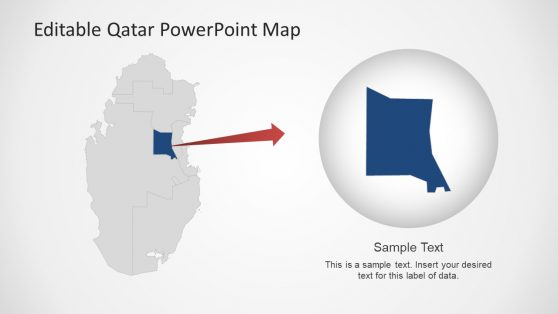 Zoom In PowerPoint Qatar Map