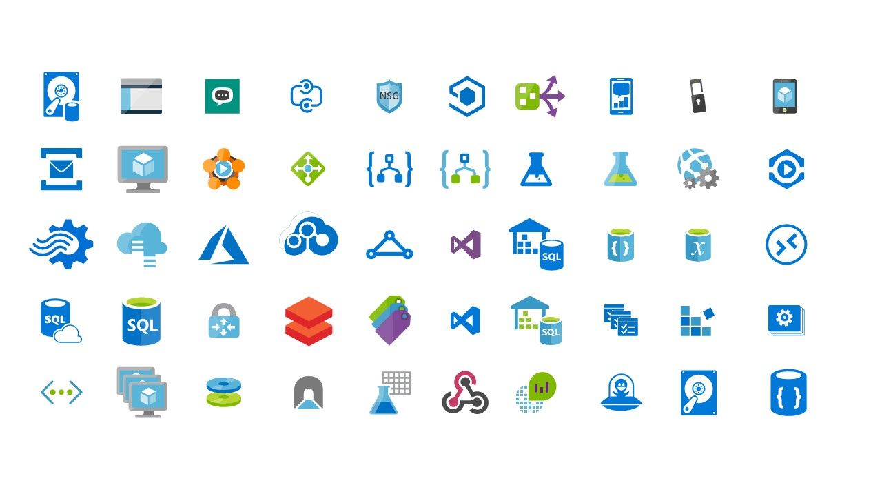 Azure Cloud Services Icons Ppt