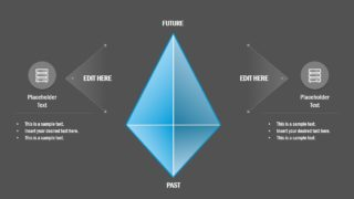 Flat Timespace PowerPoint Diamond Concept