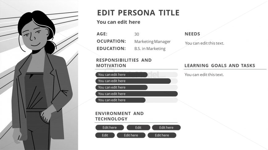 Editable Slide of Persona PowerPoint