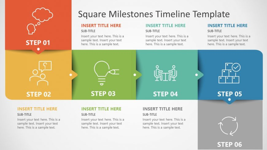PowerPoint Template of Square Milestones