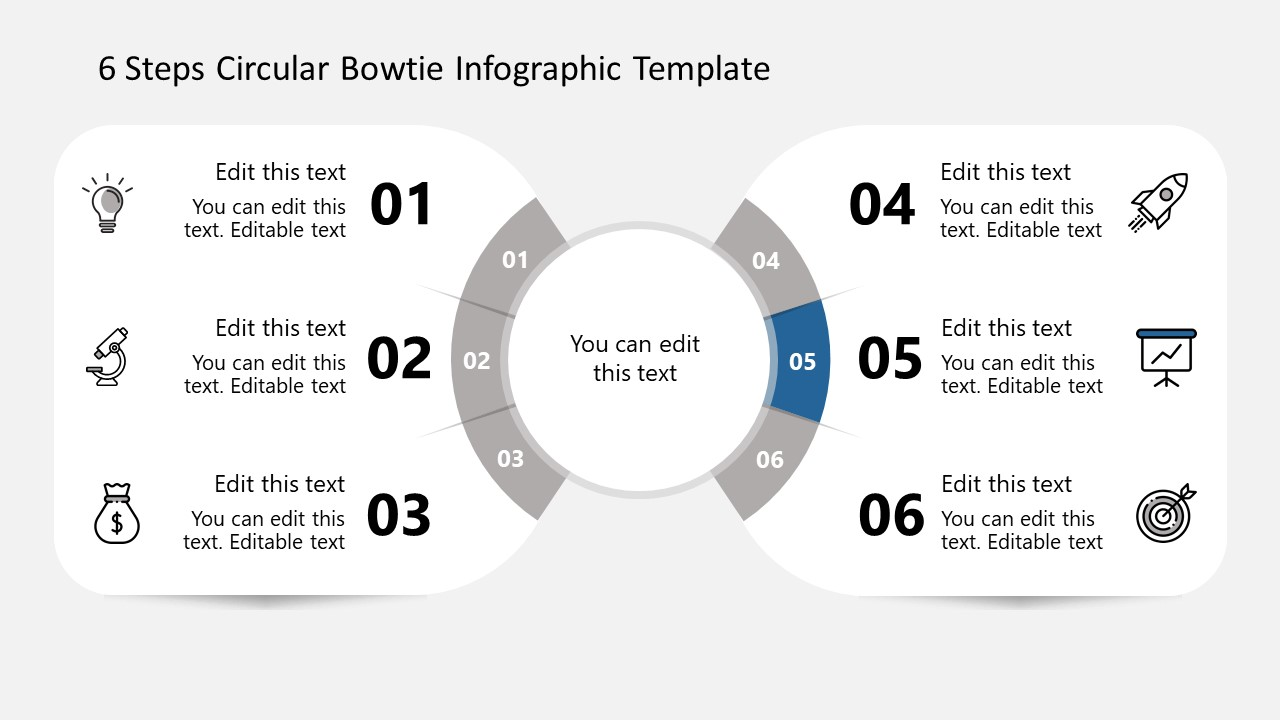 Fifth Step Bowtie Circular Diagram Infographics