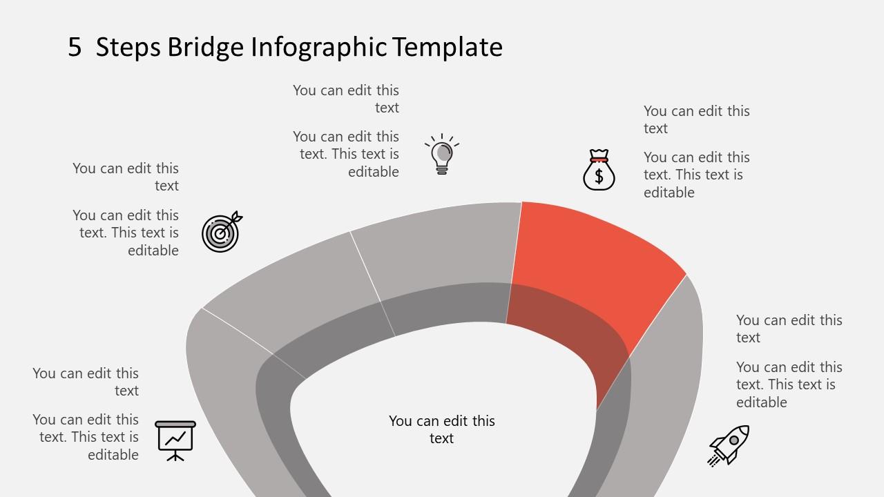 Step 4 Infographic Diagram Bridge Template
